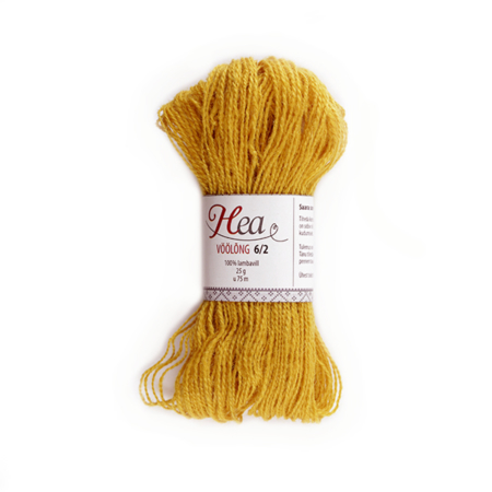 Honey Yellow Yarn 6/2 for Belt Weaving
