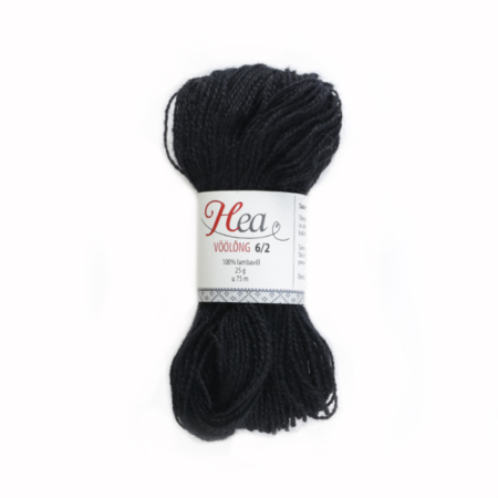 Black Yarn 6/2 for Belt Weaving